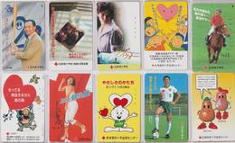 LOT De 10 Télécartes Japon - CROIX ROUGE / Santé Médecine - RED CROSS Japan Phonecards - ROTES KREUZ - 556 - Japan