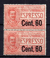Italie Timbre Expres YT N° 8 En Paire Neufs ** MNH. TB. A Saisir! - Mint/hinged