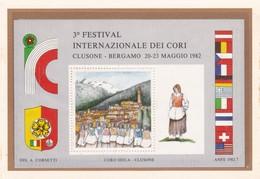 FRANCOBOLLO - 3° FESTIVAL INTERNAZIONALE DEI CORI , CLUSONE - BERGAMO 20- 23 MAGGIO 1982 - 6. 1946-.. Repubblica