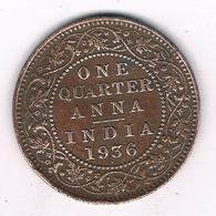 QUARTER ANNA 1938 INDIA /4434G/ - Inde