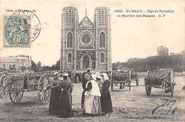 SAINT MALO - Eglise Rocabey Et Marché Des Patates - Saint Malo
