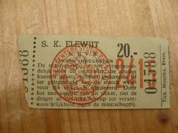 Voetbal Ticket S K Elewijt - Tickets D'entrée