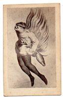AMBIGRAMME : Dessin, Caricature à Double Sens, Fin 19 ème Siècle (photo Albuminée Collée Sur Un Carton épais). - Old Paper