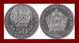 KAZAKHSTAN 50 TENGE ★ ORDER OF RESPECT 2010 ★ MINT UNC - Kazakistan