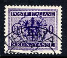 LJUBLJANA PROVINCE 1944 Postage Due 50 C. Used.  Michel Porto 7 - Occupation 1938-45