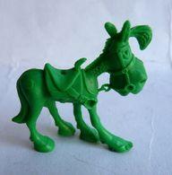 FIGURINE MONOCHROME LUCKY LUKE MORRIS - Publicitaire LA ROCHE AUX FEES JOLLY JUMPER Vert - Figurines