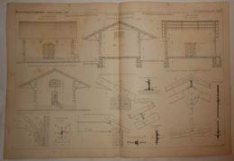 Plan De La Halle Aux Marchandises. Chemin De Fer De Grande Ceinture De Paris. 1885. - Travaux Publics