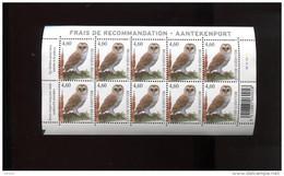 Belgie Buzin Birds 3983 Kerkuil  Velletje Plaatnummer 2 Zwart Driehoekje Linksonder  MNH - 1985-.. Uccelli (Buzin)