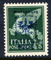 LJUBLJANA PROVINCE 1944 Winter Relief 5 L. + 20 L. MNH / **.  Michel 44 - Occupazione 1938 – 45