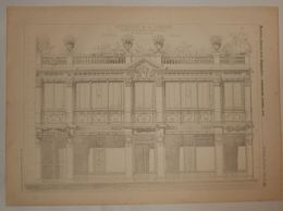 Plan Du Restaurant De La Terrasse, Avenue De La Grande Armée à Paris. M. Fivaz, Architecte. 1885. - Travaux Publics