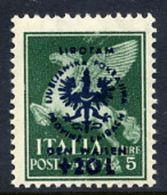 LJUBLJANA PROVINCE 1944 Orphans' Fund 5 L. + 20 L.LHM / *.  Michel 38 - Occupation 1938-45