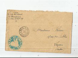 LETTRE AVEC CACHET MILITAIRE ARMEE EN CAMPAGNE DU 84 EME TERRITORIAL SECTEUR POSTAL 119 (1915) - Poststempel (Briefe)
