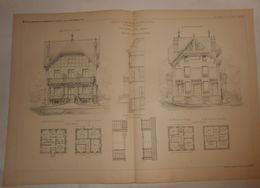 Plan D'un Chalet D'habitation à Vichy Dans L'Allier. M. Barrody, Architecte. 1885. - Public Works