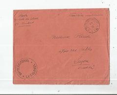 LETTRE AVEC FRANCHISE MILITAIRE CACHET DU 84 EME TERRITORIAL SECTEUR POSTAL 119 (1915) - Marcophilie (Lettres)