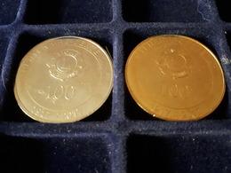 13 - LIONS CLUB MARSEILLE MASSILIA - 2 JETONS (or Et Argent) - ANNEE 2017 - Monnaie De Paris