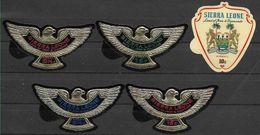 1967 SIERRA LEONE Michel 399+400+402-04** ** Oiseau, Rapace - Sierra Leona (1961-...)