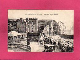 76 Seine Maritime, Les Petites Dalles, La Tour Et Les Falaises, Animée, Voitures, 1928, () - France