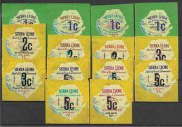 1965 SIERRA LEONE Michel 328-41 ** Kennedy, Foire De New-York, Surchargés - Sierra Leone (1961-...)