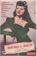 SPAIN ESPAÑA - CINE ~FILM - CINEMA - ADVERTISEMENT - HISTORIA DE AMOR - MARGARET LOCKWOOD - STEWART GRANGER - Cinema Advertisement