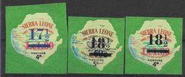 1967 SIERRA LEONE Michel 380+382-83 ** Kennedy, Foire De New-York, Surchargés, Issus De Série - Sierra Leone (1961-...)