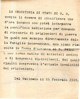 B 2067 - Prima Guerra Mondiale, 1914-18, Prigionieri Di Guerra - 1914-18