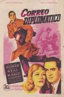 SPAIN ESPAÑA - CINE ~FILM - CINEMA - ADVERTISEMENT - CORREO DIPLOMATICO - TYRONE POWER - PATRICIA NEAL - Cinema Advertisement