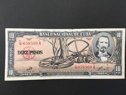 Cuba 10 Pesos 1960 Banknote - Ex Fine/Unc - Cuba