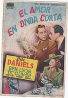 SPAIN ESPAÑA - CINE ~FILM - CINEMA - ADVERTISEMENT - EL AMOR EN ONDA CORTA - BEBE DANIELS - BEN LYON - VIC OLIVER - Cinema Advertisement