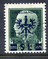 LJUBLJANA PROVINCE 1944 Definitive 5 L. On 25 C. Used.  Michel 15 - Occupation 1938-45