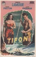 SPAIN ESPAÑA - CINE - FILM - CINEMA - ADVERTISEMENT - TIFON - ROBERT PRESTON - DOROTHY LAMOUR - - Cinema Advertisement