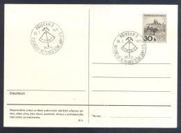 Czech Republic 1971 Card - Minerals Fosils Mine Mineralien Paleontolyogy Speleology - Mineralien