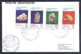 Turkey 1979 Cover - Minerals Fosil Fossil Mine Mineralien Paleontolyogy Speleology; Antimonit Koimit Kolemanit Congress - Mineralien