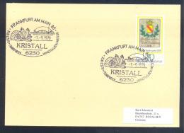 Germany 1979 Card: Minerals Fosil Fossil Mine Mineralien Paleontolyogy Speleology: Frankfuter Mineralien Messe - Mineralien