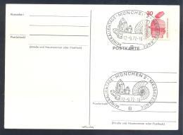 Germany 1972 Card: Minerals Fosil Fossil Mine Mineralien Paleontolyogy Speleology: Munchen Mineralien Tage - Mineralien