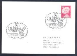 Germany 1983 Card: Minerals Fosil Fossil Mine Mineralien Paleontolyogy Speleology: Mineralien Und Fossilien Borse Fulda - Mineralien