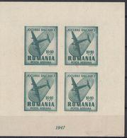 ROMANIA - 1947 - Foglietto Nuovo MNH: Yvert 37 (posta Aerea). - Blocs-feuillets