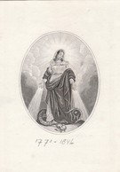 Jean Baptiste Andre Keij?-anne Catharine Wouters-anvers-1846-1813 - Images Religieuses