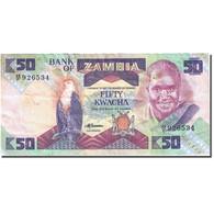 Billet, Zambie, 50 Kwacha, 1980-1986, Undated (1986-1988), KM:28a, TB - Zambie