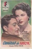SPAIN ESPAÑA - CINE - FILM - CINEMA - ADVERTISEMENT - CENIZAS DE AMOR - HEDY LAMARR - ROBERT YOUNG - Cinema Advertisement