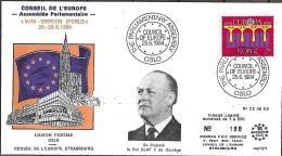 Norvège Norge Norway  1984 Conseil De L'Europe FDC 25.6.1984 Roi Olaf V Nº 188 - European Ideas