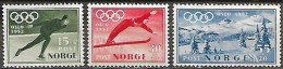 Norvège Norge Norway 1951 Timbres Propagande Pour Jeux Olympiques D'hiver, 3 Val Mnh - Winter 1952: Oslo