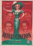 SPAIN ESPAÑA - CINE - FILM - CINEMA - ADVERTISEMENT - LA REINA DE LA CANCION - ALICE FAYE - HENRY FONDA - Cinema Advertisement