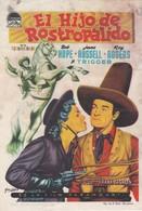 SPAIN ESPAÑA - CINE - FILM - CINEMA - ADVERTISEMENT - EL HIJO DE ROSTROPALIDO - BOB HOPE - JANE RUSSEL - ROY ROGERS - Cinema Advertisement