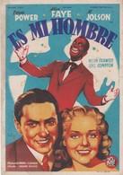 SPAIN ESPAÑA - CINE - FILM - CINEMA - ADVERTISEMENT - ES MI HOMBRE - TYRONE POWER - ALICE FAYE - AL JOLSON - Cinema Advertisement
