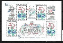 #B56# CZECHOSLOVAKIA MICHEL BL 59 MNH** UPU KONGRES INHAMBURG 1984. - Hojas Bloque