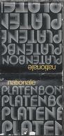 Lucifermapje. NATIONALE PLATENBON. NEDERLANDSCHE MIDDENSTANDSBANK.. Matchbook. Pochette D'Allumettes - Luciferdozen