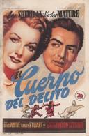 SPAIN ESPAÑA - CINE - FILM - CINEMA - ADVERTISEMENT - EL CUERPO DEL DELITO - ANN SHERIDAN - VICTOR MATURE - Cinema Advertisement