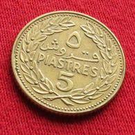 Lebanon 5 Piastres 1969 KM# 25.1  Liban Libano Libanon - Lebanon