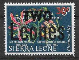 1966 SIERRA LEONE  PA  44 ** Fleur, Surchargé - Sierra Leone (1961-...)