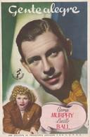 SPAIN ESPAÑA - CINE - FILM - CINEMA - ADVERTISEMENT - GENTE ALEGRE - GEORGE MURPHY - LUCILLE BALL - Cinema Advertisement